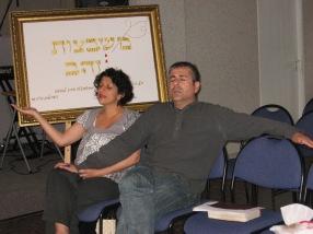 Mona and Arik worshiping God together